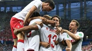 Croazia-Danimarca, le foto più belle del match