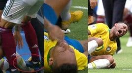 Brasile, Neymar si rotola per terra e urla dopo il pestone