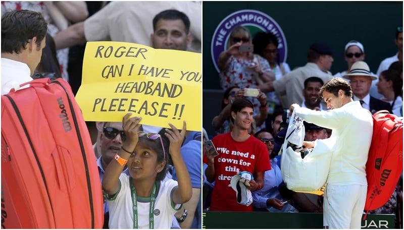 Wimbledon: il regalo di Federer alla piccola fan