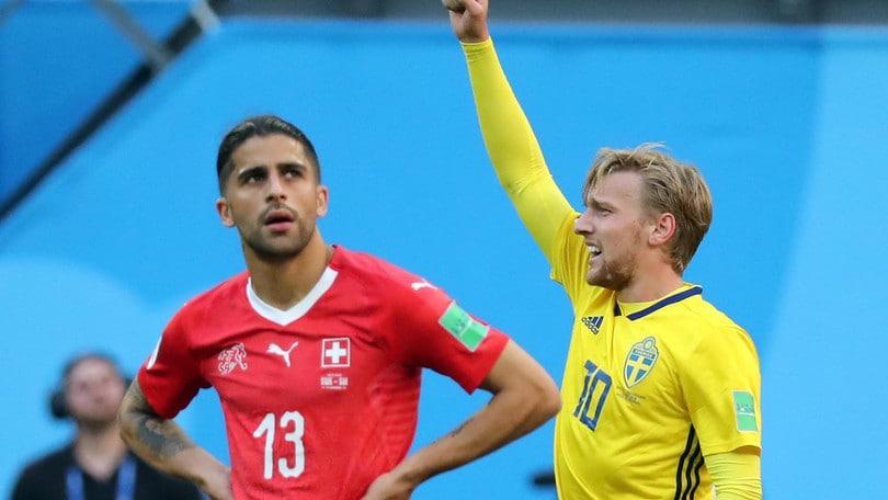 Svezia-Svizzera 1-0: Forsberg gol, svedesi ai quarti