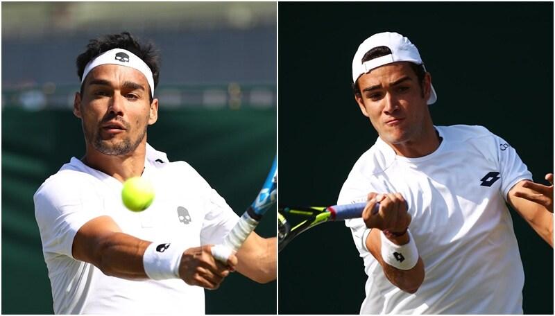 Wimbledon: impresa Berrettini, bene Fognini e Bolelli. Delusione Cecchinato