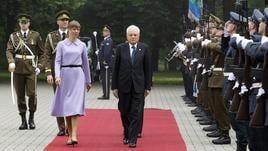 Mattarella a Tallin in visita Stato