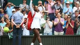Wimbledon: bene Serena Williams, fuori la Wozniacki