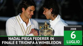 6 luglio 2008 - Nadal batte Federer e vince Wimbledon