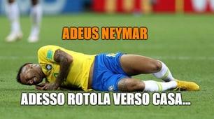 Brasile-Belgio vista dai social: «Neymar, rotola verso casa!»