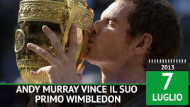 On this day - Andy Murray vince il suo primo Wimbledon