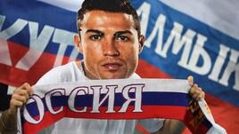 Cristiano Ronaldo, l'ironia dei tifosi russi