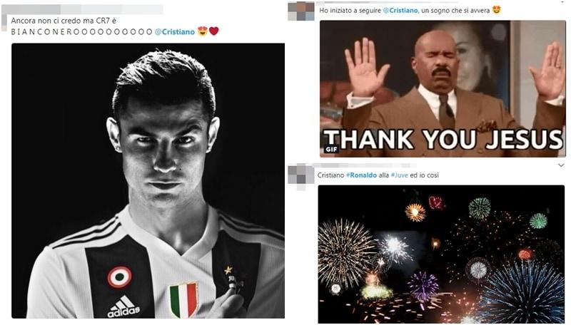 Ronaldo, arriva l'ufficialità: le reazioni social dei tifosi