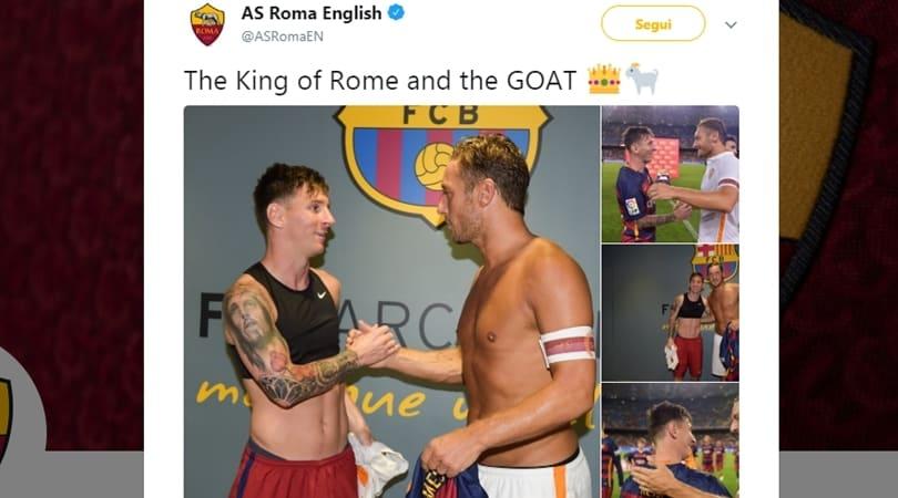 Cristiano Ronaldo, la Roma su Twitter punge:
