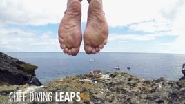 Le spettacolari rocce delle Azzorre ospitano i tuffi da 27 metri