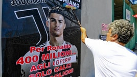 Cristiano Ronaldo, la protesta degli operai Fiat