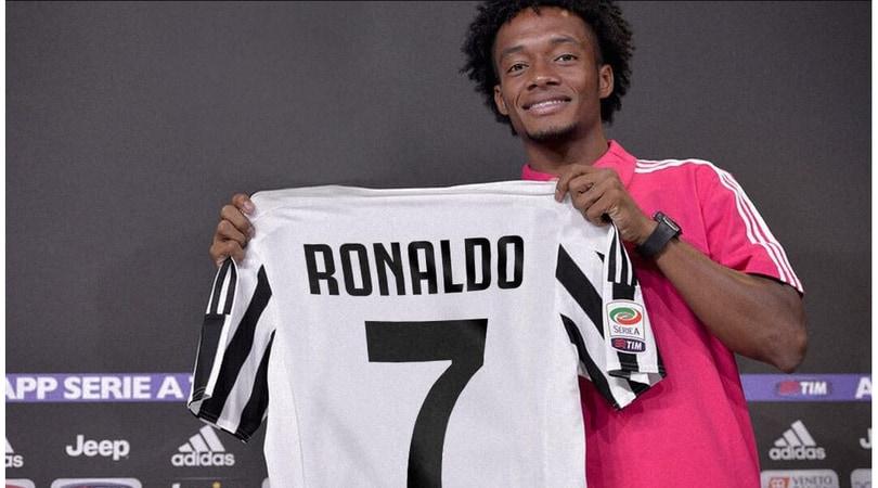 Juventus, Cuadrado dà la 7 a Cristiano Ronaldo: