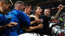 Mondiali 2018, Croazia-Inghilterra 2-1: Mandzukic decide la semifinale