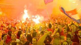 Croazia in finale, notte magica a Zagabria