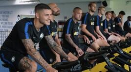 Inter, sudore e sorrisi in palestra