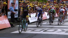 Tour, 7° tappa - Volata a Groenewegen, Sagan battuto