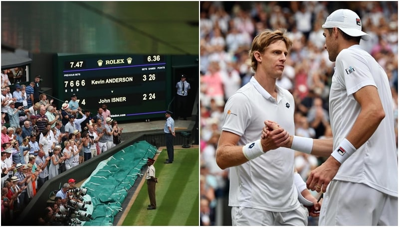 Wimbledon, l'incredibile sfida tra Anderson e Isner