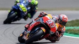 Gp Germania: trionfo Marquez, ma Rossi c'è
