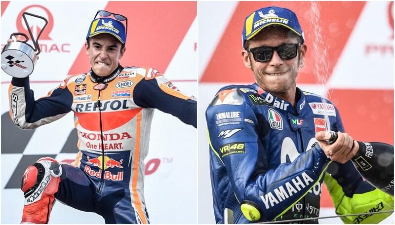 Moto Gp,vince Marquez. Rossi secondo: esplode la festa a fine gara