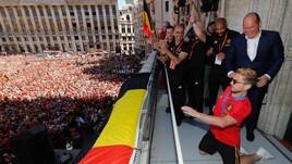 Il Belgio torna a casa, l'accoglienza è impressionante