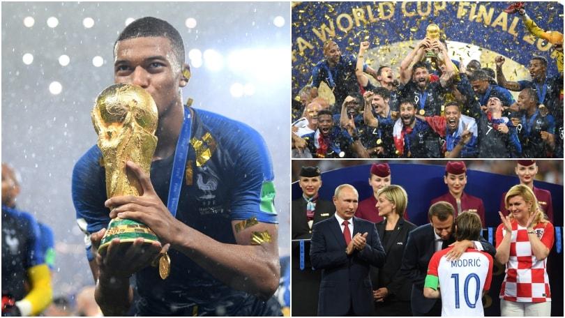 La Francia campione incoronata sotto la pioggia, premiati Mbappé e Modric