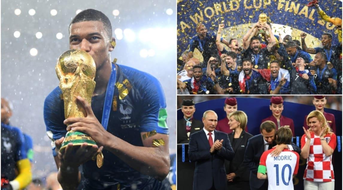 Le immagini più belle della cerimonia andata in scena al'Luzhniki Stadium' di Mosca dopo la finale vinta 4-2 contro la Croazia. Riconoscimenti personali per l'attaccante del Psg (miglior giovane del torneo) e per il regista del Real Madrid (miglior giocatore)