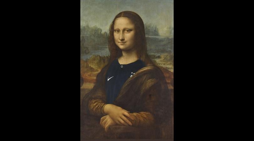La gioconda con la maglia della nazionale francese fa impazzire twitter