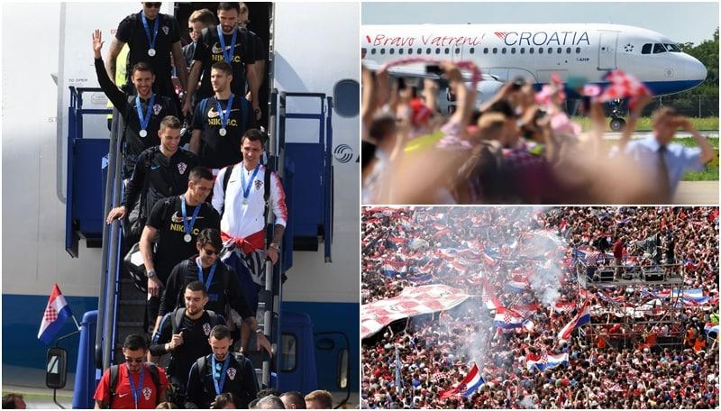 Mondiali, la Croazia torna a casa: bagno di folla a Zagabria