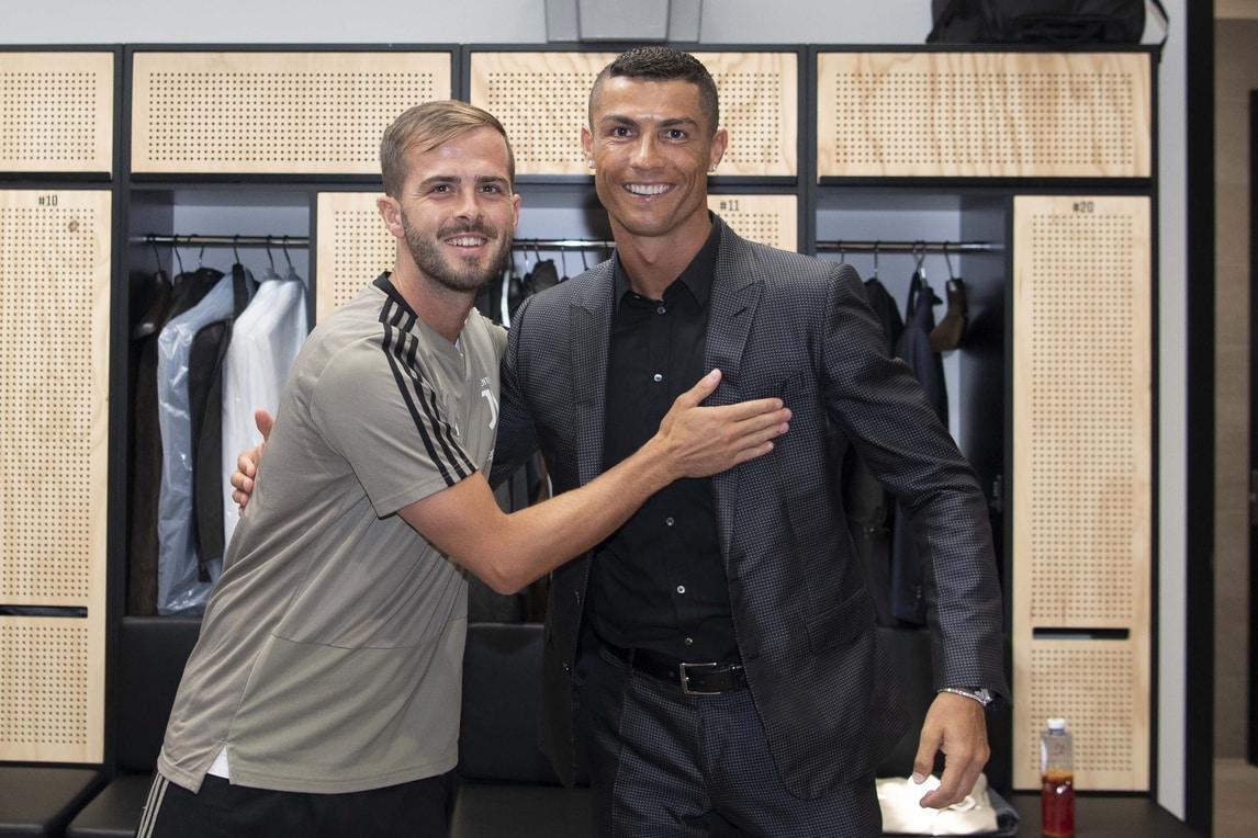 Juventus, Cristiano Ronaldo incontra i compagni di squadra