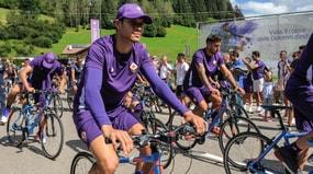 Fiorentina, tutti in bicicletta