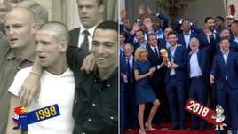 Francia campione, le due feste a confronto