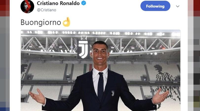 """Juventus, il """"buongiorno"""" di Ronaldo manda in tilt i social"""