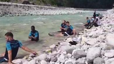 Lazio, sosta nel torrente