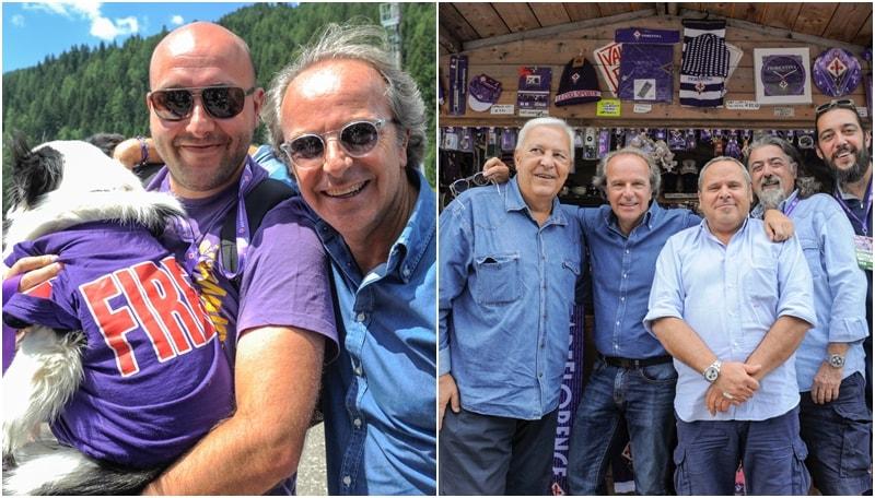 Fiorentina, Andrea Della Valle travolto dall'affetto dei tifosi a Moena