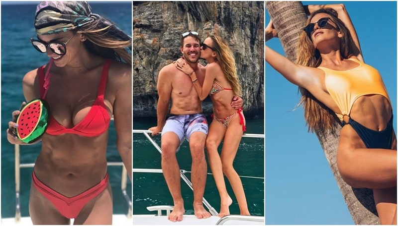 La modella e attrice statunitense ha una relazione con il golfista Brooks Koepka. In questi giorni si trova in Scozia per il terzo major stagionale