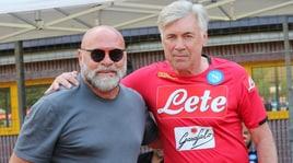 Napoli, che sorpresa a Dimaro: Cosmi in visita da Ancelotti
