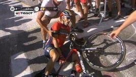 Tour, Nibali cade e si ritira, doppietta Thomas sulle Alpi