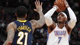 NBA, Carmelo Anthony agli Hawks.  Schroder ad OKC