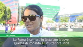 Mia Hamm e la sua Roma: