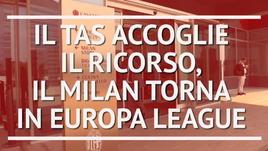 Milan in Europa League, il TAS accoglie il ricorso