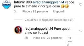Nainggolan al tifoso della Lazio: «Pure quest'anno c'eri quasi»