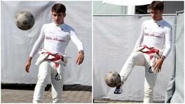 Che palleggi al paddock per Charles Leclerc!<br />