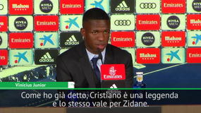 "Vinicius Jr: ""Io più simile a Neymar che a CR7. Ronaldo e Zidane? Leggende"""