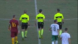 Roma-Avellino 1-1, il gol di Schick non basta