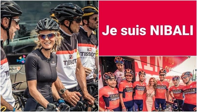 Justine Mattera infiamma il Tour de France