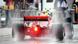 F1 Germania, Libere 3: Vettel 4°, ma la pioggia condiziona la sessione