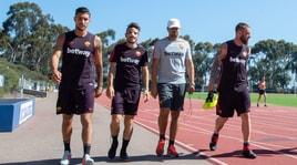 Roma, il primo allenamento a San Diego