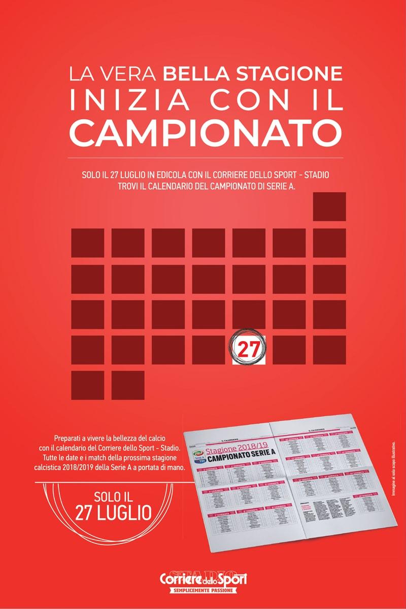 Calendario Campionato Di Calcio.Il 27 Luglio In Edicola Il Calendario Del Campionato Di