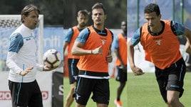 Lazio, seduta tattica in campo per la difesa