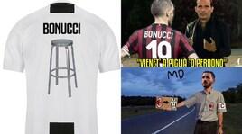 Bonucci-Juventus, social scatenati: «Lo sgabello è già pronto»